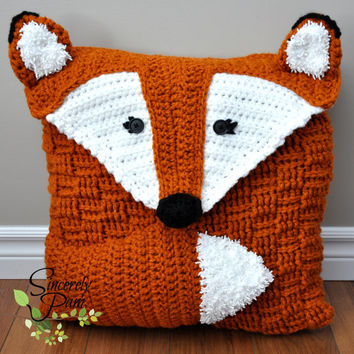 Felix the Fox Pillow Cover and Bag crochet pattern PDF