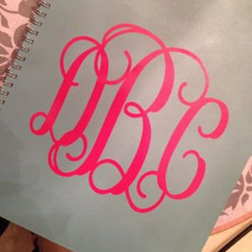 "Vine Monogram - 6"" - Perfect for Planner/Notebook/Binder"