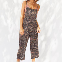 Ecote Sandra Strappy Printed Jumpsuit | Urban Outfitters