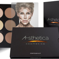 Deluxe Contour Highlighting Powder Foundation Palette Makeup Kit