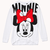 Longline Minnie Mouse Sweatshirt | FOREVER 21 - 2000075220