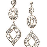 Textured Cutout & Rhinestone Earrings | Arden B.