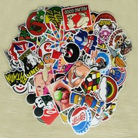 100 Pcs Stickers Mixed Funny Cartoon Doodle Decals Luggage Laptop Car Styling Skateboard DIY Home Decor Sticker kid's Toy