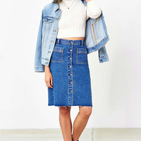 BDG Button-Front Denim Pencil Skirt - Urban Outfitters