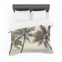 "Catherine McDonald ""Boho Palms"" Coastal Trees Featherweight Duvet Cover"