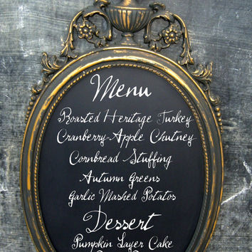 Hollywood Regency Vintage Chalkboard Black by smallVintageAffair