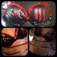 Skrillex Inspired Glitter Sequin Rave Bra by electricfairydesigns
