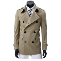 Partiss Mens Casual Double Breasted Jacket