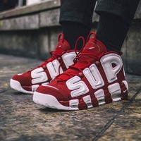Supreme x Air More Uptempo Suptempo Red