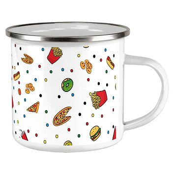 Junk Food Pattern Camp Cup