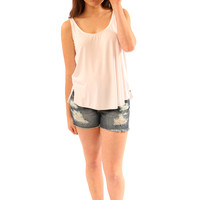 favorite basic tank-white