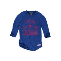 Team Established Raglan Texas Rangers - Mitchell & Ness
