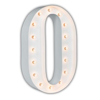 "24"" Letter O Lighted Marquee Letters (White Gloss)"