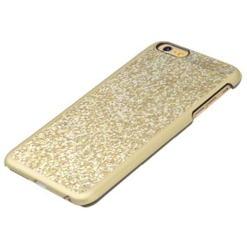 Cool Light Gold Glitter Incipio Feather® Shine iPhone 6 Plus Case