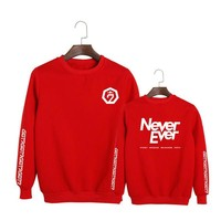 """NEVER EVER"" SWEATSHIRTS"