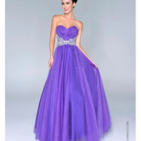 (PRE-ORDER) Nina Canacci 2014 Prom Dresses - Purple Shimmering Tulle & AB Stone Ball Gown
