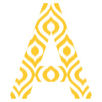 Sunny Ikat Patterned Letter Wall Decal