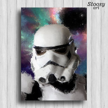 Storm Trooper print star wars decor storm trooper art