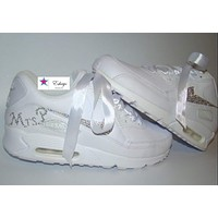 Personalized Clear Crystal Nike Air Max 90