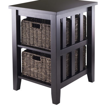 Morris Side Table With 2 Foldable Baskets