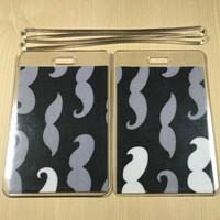 Luggage Tags Set of 2 Mustaches