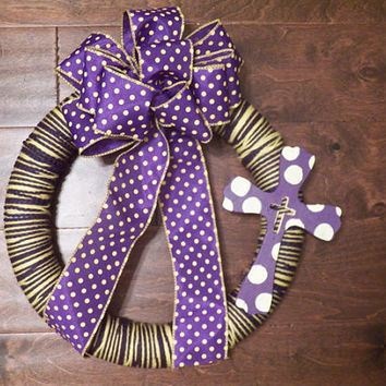 LSU Tigers Front Door Wreath Ready To Ship