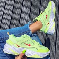 Nike M2k Tekno Fluorescent green jogging shoes