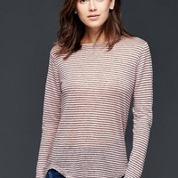 Gap Women Linen Stripe Tee
