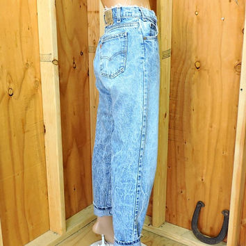 Vintage Levis 550 orange tab 40550 32 X 30 / 80s acid washed high waisted levi jeans / 1980s retro levis
