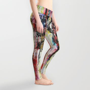 Lenny Hostile Leggings by HappyMelvin