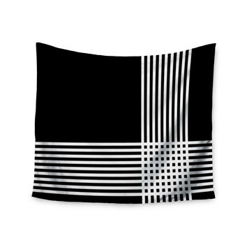 "Trebam ""Krizanje v2"" White Black  Wall Tapestry"