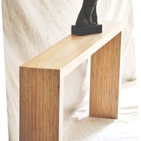 Sofa Table / Foyer Table with Layered Birch by TheVelvetBranch