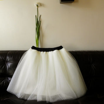 Tutu Cute Skirt - Ebony and Ivory