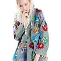 Flower Power Button Up - Army Green – DIY by Panida
