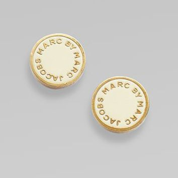 Marc by Marc Jacobs - Signature Disc Earrings - Saks.com