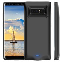 Super-SPEED External Battery Case Charger High 5500mAh For Samsung Galaxy Note 8