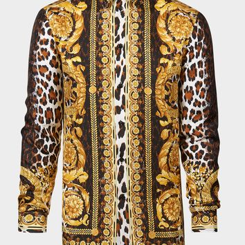 Versace Wild Barocco SS'91 Silk Shirt for Men | US Online Store