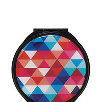 Geo Print Compact Mirror