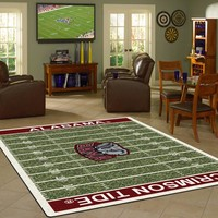 Alabama University Football Field Rug