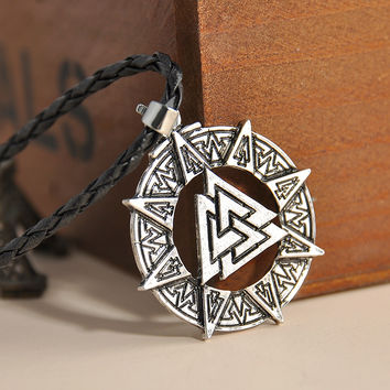 "New Arrival 5 Style Trinity Pewter Pentagram Star Celtic Solar Cross/Knot Trinity Knot Trinity Pendant 20"" Choker Necklace"