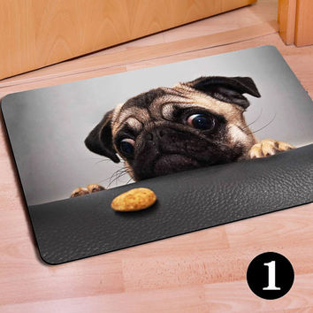 Puppy Dog Printed Personalized Entrance Mat Indoor Kitten Cat Doormat Rug