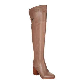 Franco Sarto Dover Taupe Ollie Medium Calf Leather Over-the-Knee Boots