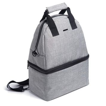 PuTwo Lunch Bag 14L Insulated Cooler Backpack Bag 2 Compartments Leakproof Lunch Tote with Adjustable Shoulder Strap Cooler Backpack Bag for Kid Adult Men Women Lunch Cooler Bag for Picnic Work – Gray