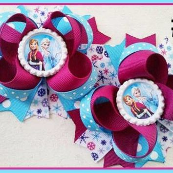 CHARACTER BOTTLE CAP HAIR BOWS - #68