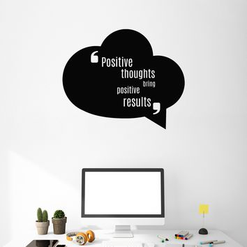Vinyl Wall Decal Positive Quote Saying Inspirational Art Home Office Interior Stickers Mural (ig5482)