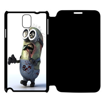 Funny and Scary Zombie Minion Samsung Galaxy Note 4 Flip Case Cover