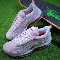 Nike Air Max 97 White Pink Retro Sport Shoes 313054-161 - Best Online Sale