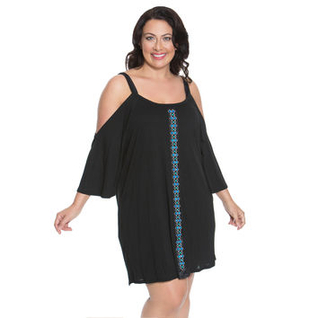 Beaded Women's Plus Size Cover-Up from Dotti