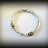 Maio silver bangle,Hill Tribe jewellery,tribal silver bracelet,bohemian bangle,silver bangle,ethnic bangle,tribal bangle,vintage bangle