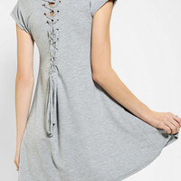 Urban Outfitters - LENNI Knit Lace-Up Back Tee Dress